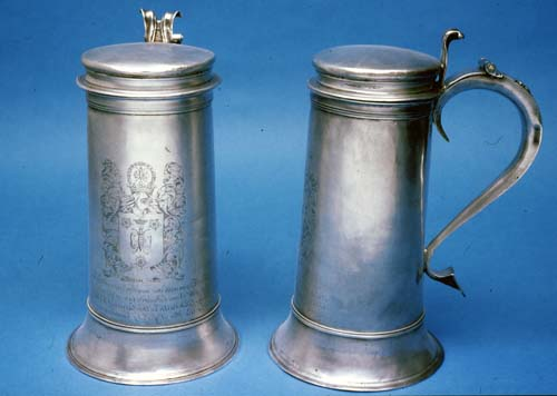 Silver Patens, Communion Cup and Flagons
