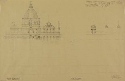 Collection of architectural drawings and tracings