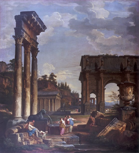 Landscape with the Arch of Constantine & Landscape with the Colosseum
