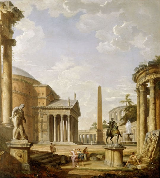 Landscape with the Pantheon & Landscape with the Column of Trajan