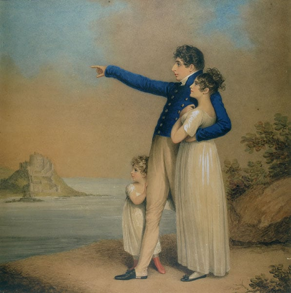Robert Southey with his Daughter and Son