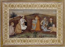 Young Prince visiting an Ascetic with Musicians in a Landscape
