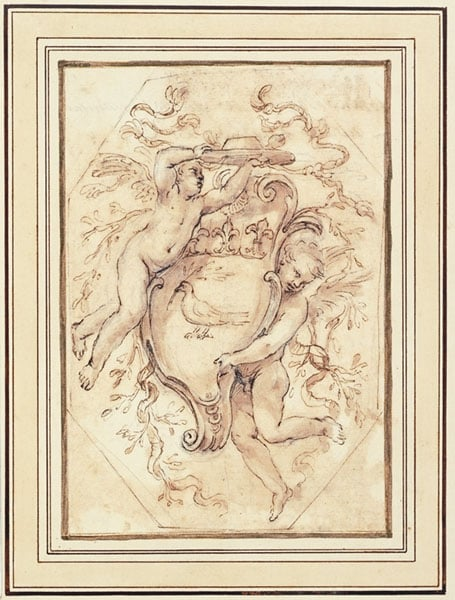 Two Putti with the Arms of Camillo Pamphili