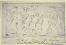 Bas-relief of The Triumph of Vespasian from the Arch of Titus, Rome