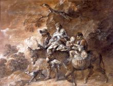 A Peasant Family going to Market