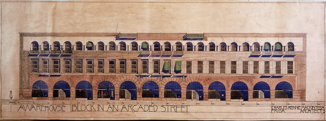 Shop and Office Block in an Arcaded Street & Warehouse Block in Arcaded Street