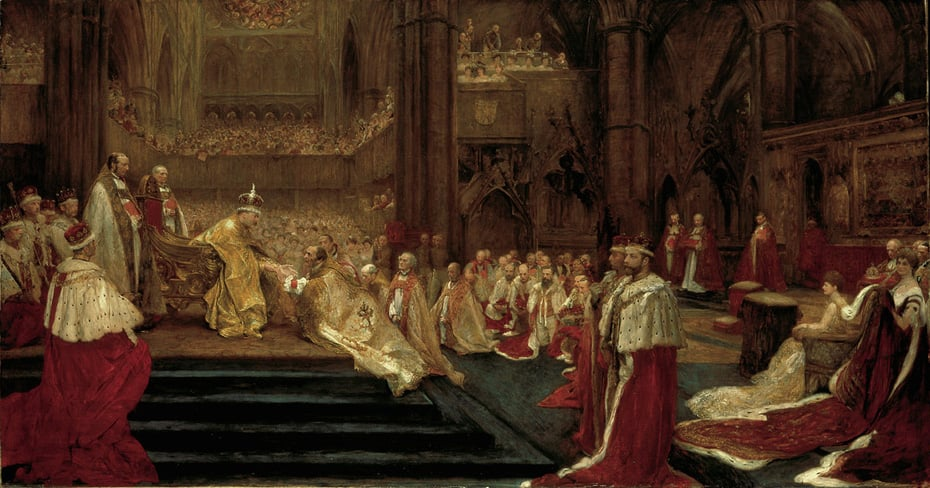 The Hommage Giving: Westminster Abbey, August  9th, 1902