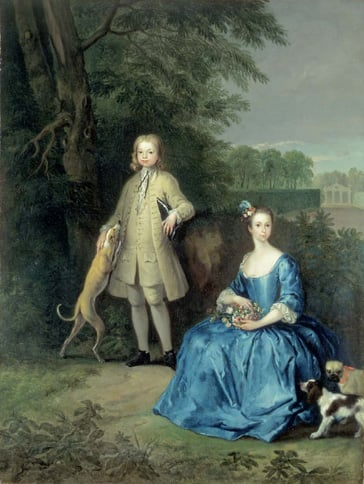 Portrait of Master Edward and Miss Mary Macro