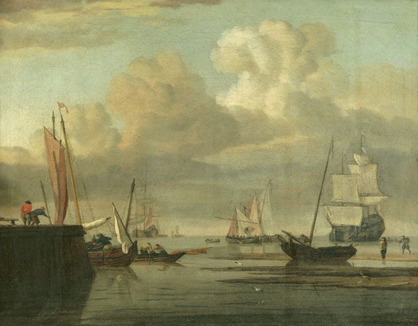 Shipping in an Estuary with a Jetty to the Left