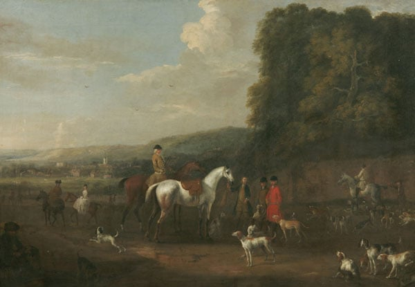 Hunting Piece: Going a Hunting with Lord Biron's Pack of Hounds