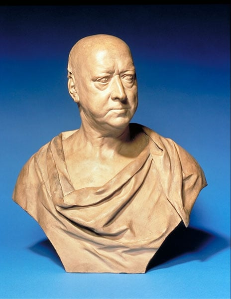 Portrait bust of Sir Andrew Fountaine