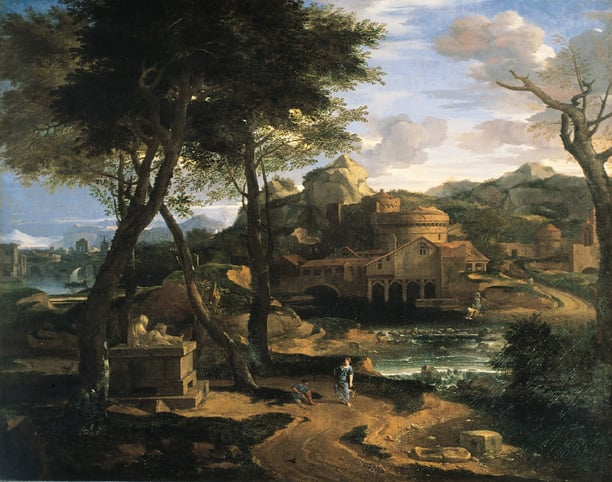 Classical Landscape with a City by a River