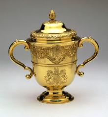The King's Prize- covered cup for Leith Races
