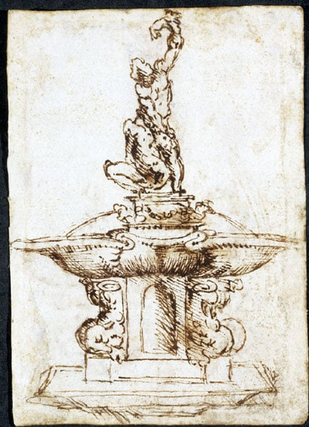 Drawings of modelli for sculptural projects by Giovanni Bologna