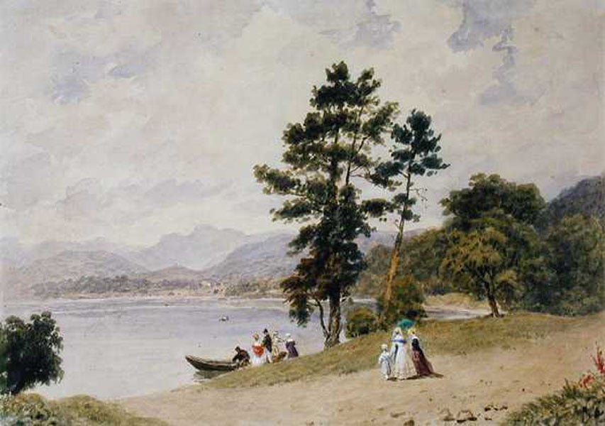 On Lake Windermere, Langdale Pike from Low Wood