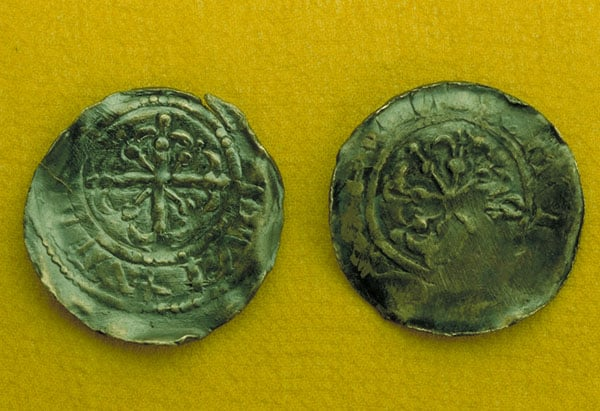 Ten Medieval coins from the Box Hoard