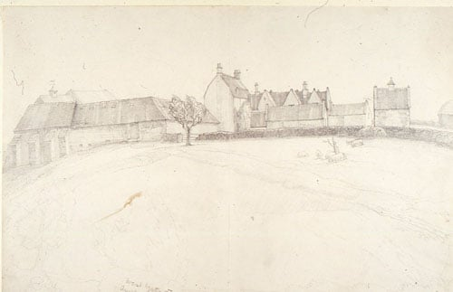 Two drawings of West Wiltshire Farms