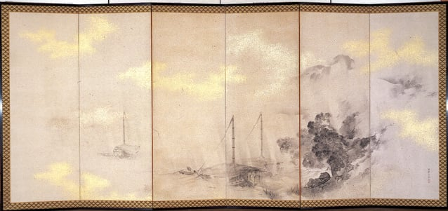 Two Japanese screens