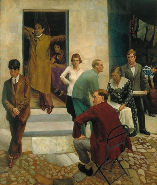 Gathering on the Terrace at 47, Downshire Hill, Hampstead