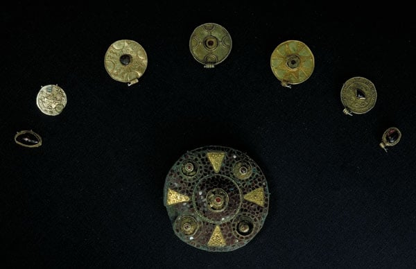 Collection of Anglo-Saxon jewellery