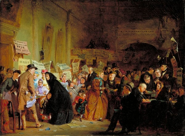 An Infant Orphan Election at the London Tavern, 'Polling'