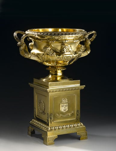 Reduced Copy of the Warwick Vase and Stand
