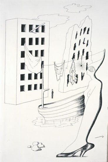 Album of 15 drawings by Surrealist artists