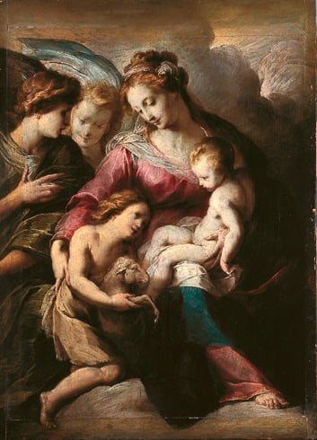 Virgin and Child with the Infant St John and Attendant Angels