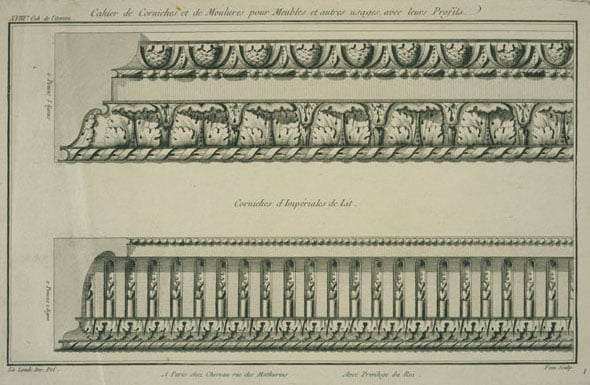 Collection of 197 ornament prints