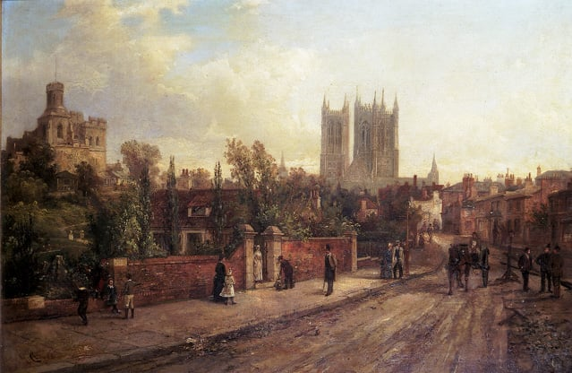 A View of Lincoln from the High Street