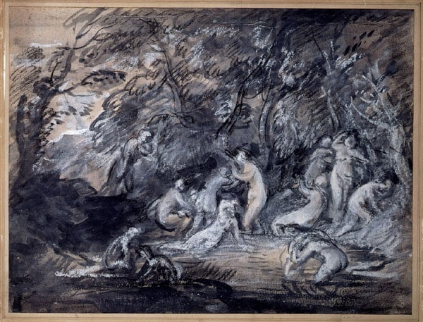 Study for 'Diana and Actaeon'