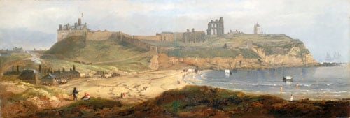Priory and Castle, above Priors Haven Bay, Tynemouth