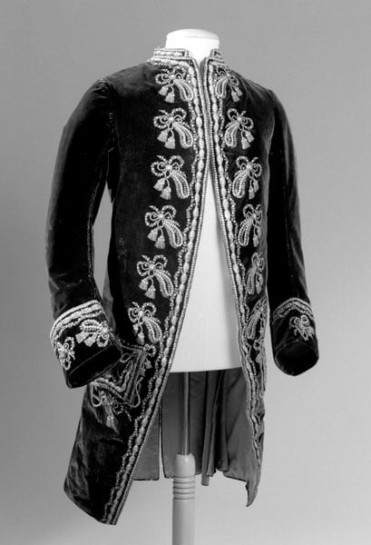 Embroidered velvet suit