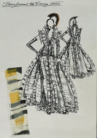 Collection of fashion drawings