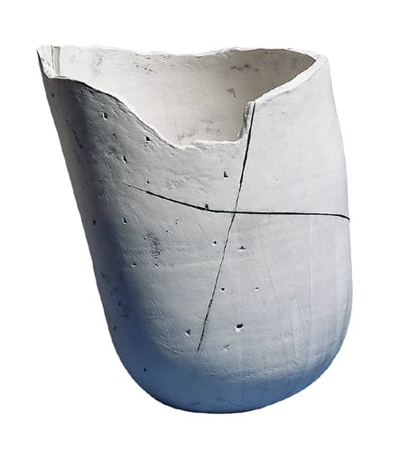 White Bowl with Cross and Slits