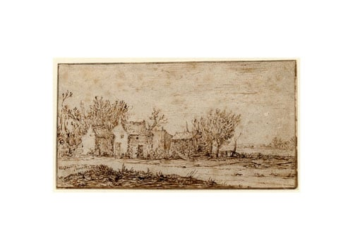 Landscape with a cottage and farm buildings