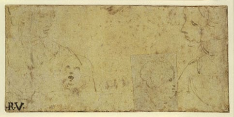 Two studies for a Virgin and Child