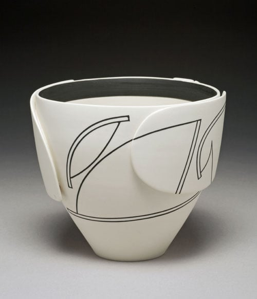 Bowl with deep sides and narrow base