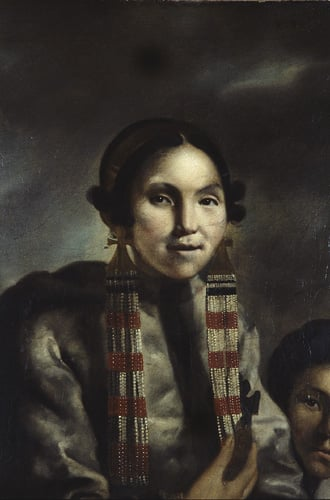 Portrait of Micoc and her Son Tootac, Esquimeaux Indians