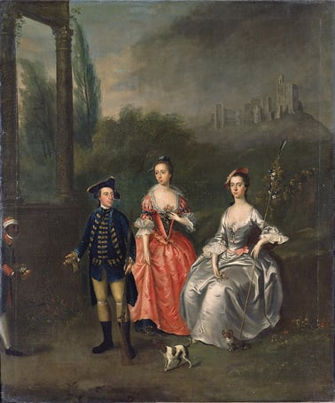 Portrait of Captain, Robert Fenwick and his wife Isabella Orde and her sister Ann
