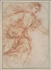 A Woman Running to the Right; Study for Erminia