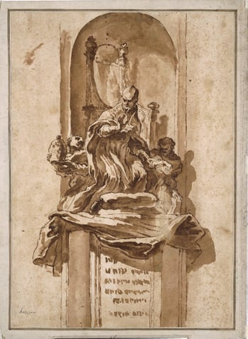 Design for a Papal Tomb Monument
