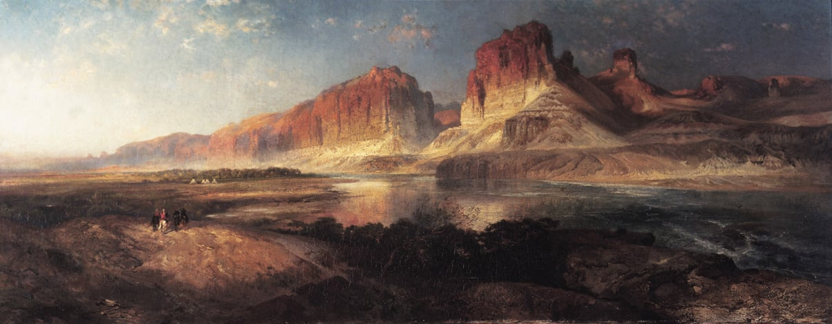 Nearing Camp , Evening on the Upper Colorado River