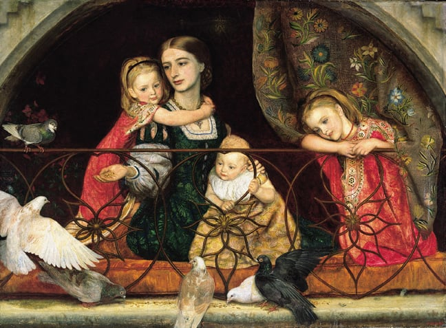 Portrait of Mrs Leathart and her Three Children