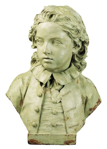 Bust of Edward Salter, aged six