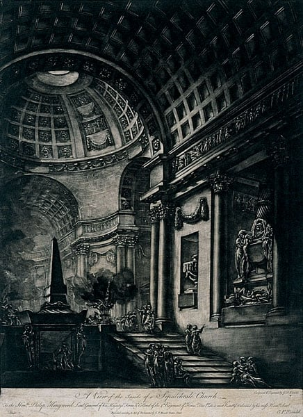 A View of the Inside of a Sepulchral Church
