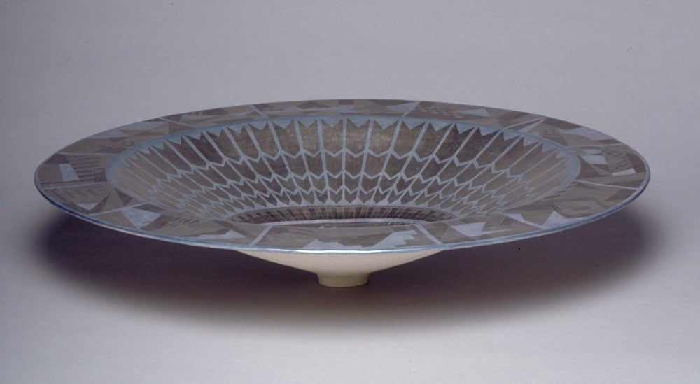 Oval Dish: Blue Ceremonial