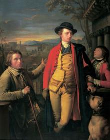The 8th Duke of Hamilton with Dr John Moore and Ensign John Moore