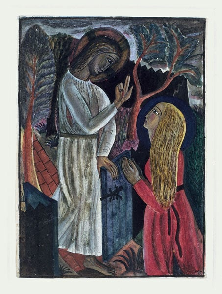1. Petra Gill & 2. Orchard, Capel-y-ffin & 3. Christ in the Garden