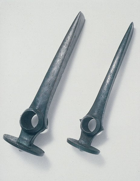 Two Hungarian shaft-hole axes